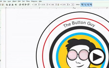 designing buttons using inkscape