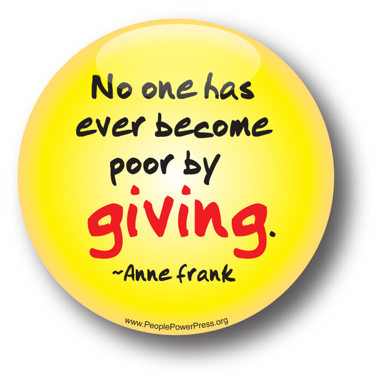 anti-Poverty fundraising buttons