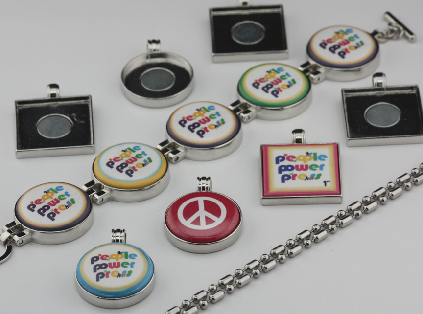 button pendants and button bracelets
