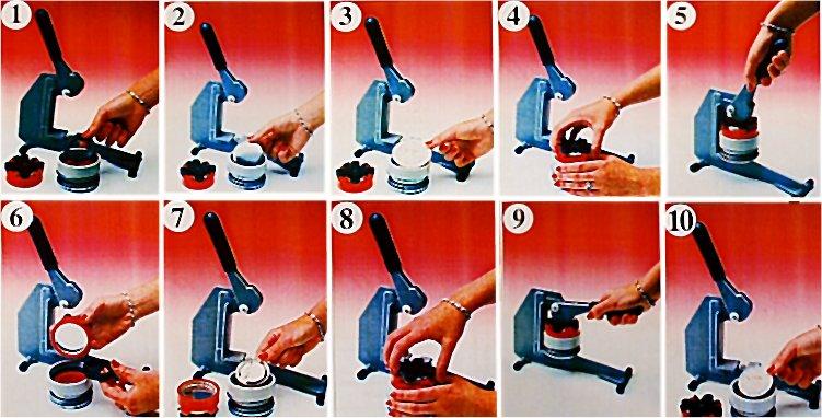 32mm 25 Interchangeable Button Maker Machine Badge
